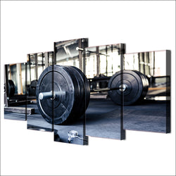 gym equipment canvas wall art 5 pcs