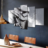 5 pieces Star Wars White Troopers in Action  - panelwallart.com