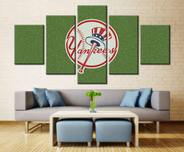 5 panel new york yankees canvas wall art by panelwallart.com