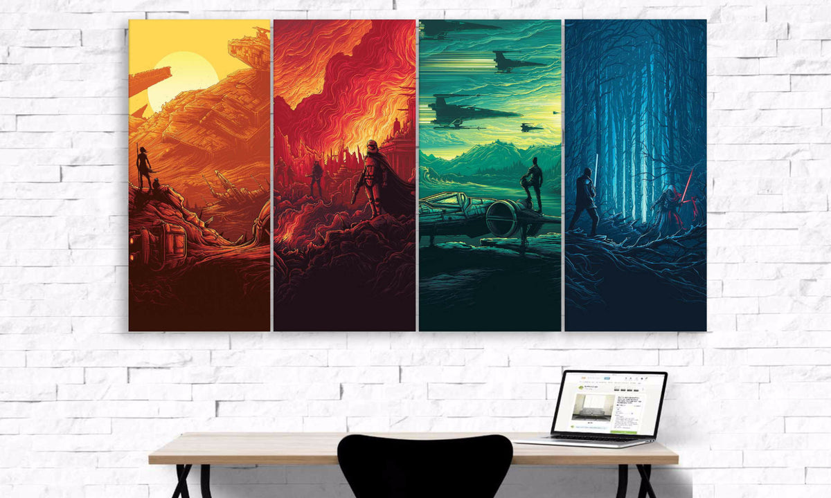 4 Panel Star Wars Canvas Wall Art | PanelWallArt.com