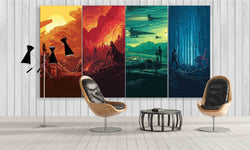 4 Panel Wall Art - Colourful Star Wars Canvas Prints | PanelWallArt.com