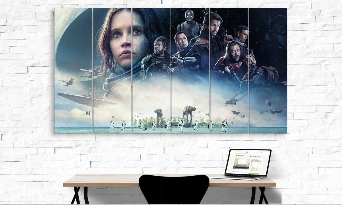 6 panel Rogue One Star Wars Canvas Art | PanelWallArt.com