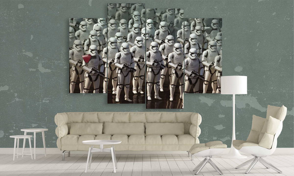 4 Panel Star Wars Canvas of Clonetroopers | PanelWallArt.com