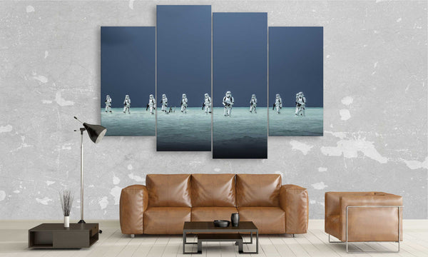 4 panel of Clone Troopers at War from star wars movie | panelwallart.com