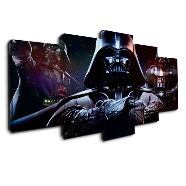 darth vader and stormtroopers canvas wall art print