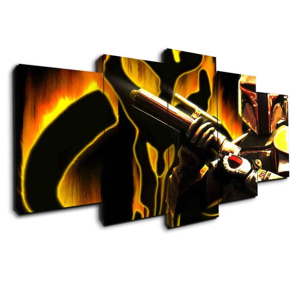 boba fett panel wall art canvas by panelwallart.com