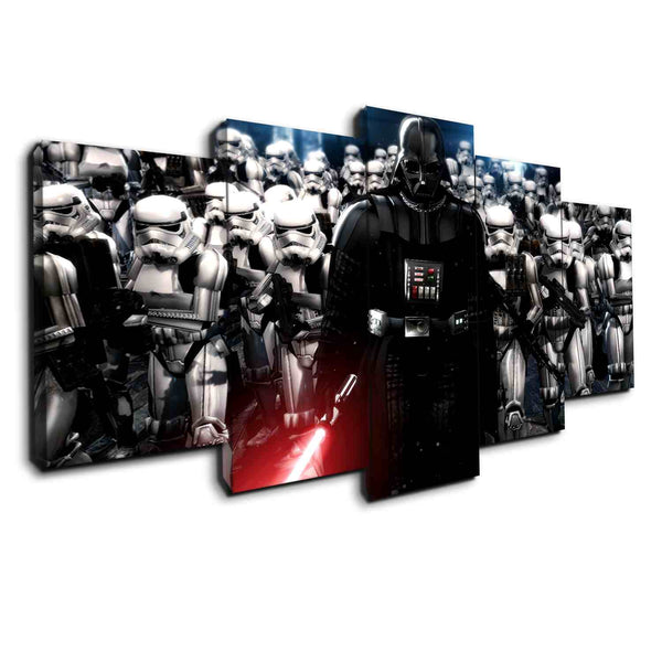 Darth Vader and Stormtroopers | Black Friday Cyber Monday Sale | Panel Wall Art Canvas