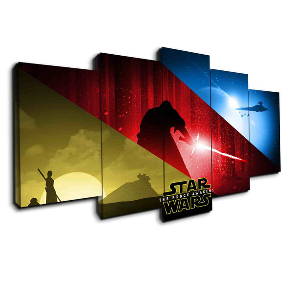 Star Wars Awaken Forces | Black Friday Cyber Monday Sale | Panel Wall Art Canvas