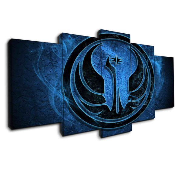 republic logo awaken forces panel wall art canvas by panelwallart.com