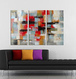 Modern Dreams abstract 3 pieces oil painting canvas wall art amazon