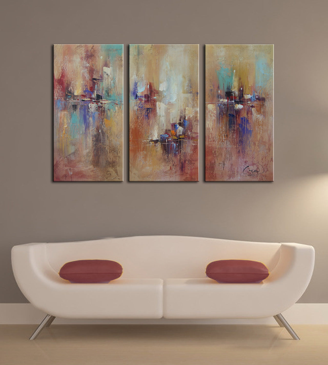 3 panel canvas hand painted oil painting wall art canvas factory