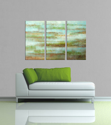 Misty abstract 3 pieces oil painting canvas wall art amazon