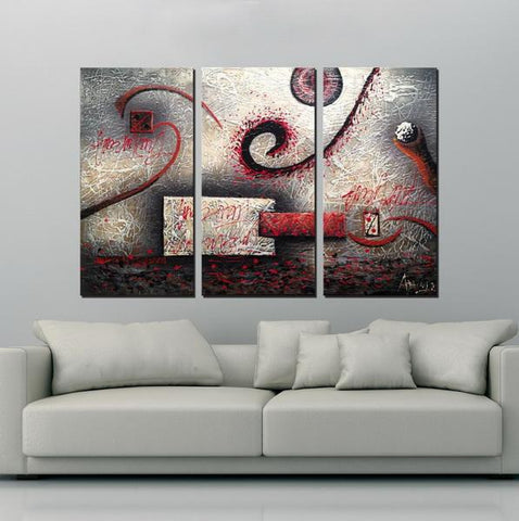 Escape abstract 3 pieces oil painting canvas wall art amazon