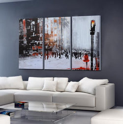 Busy Busi abstract 3 panels oil painting canvas wall art etsy