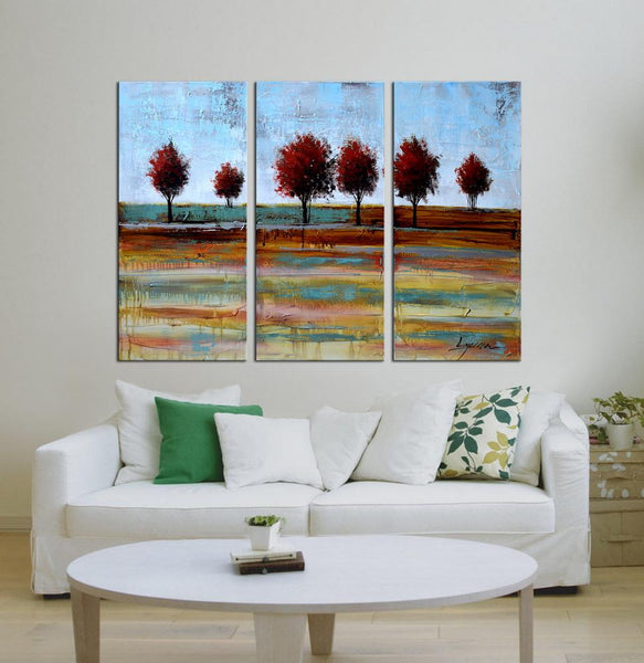 Run Wild abstract 3 panels oil painting canvas wall art etsy