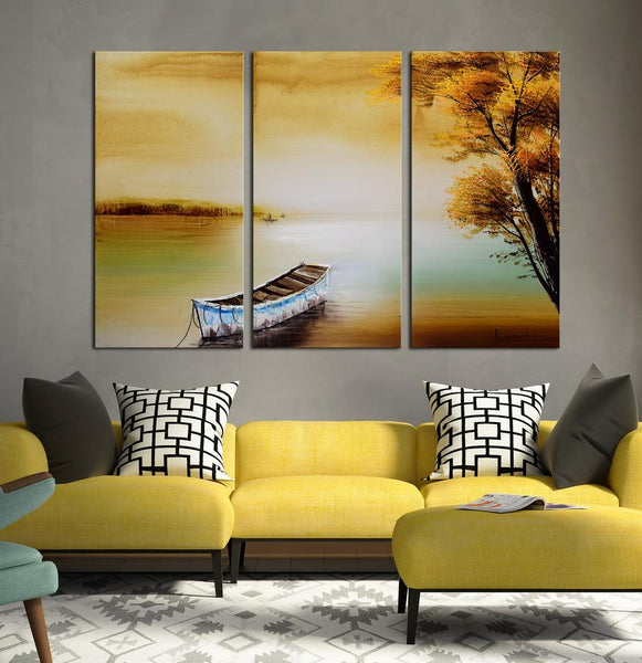 Be Still and Listen abstract 3 panels oil painting canvas wall art etsy