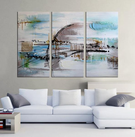 Mordenzia abstract 3 panels oil painting canvas wall art etsy