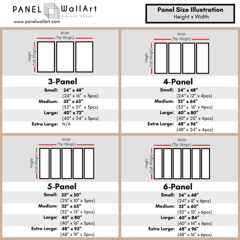 Multi Panel Size Chart - Collection C