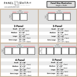 square sets canvas wall art size chart