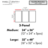 3 pieces oil painting painted by hang wall art canvas size chart by panelwallart.com