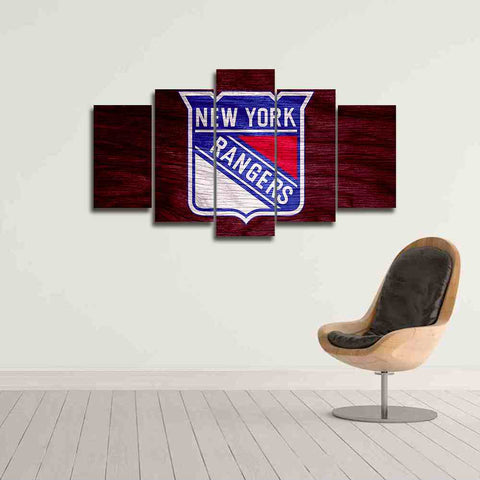 nhl new york rangers ice hockey canvas wall art panel for home and gifts