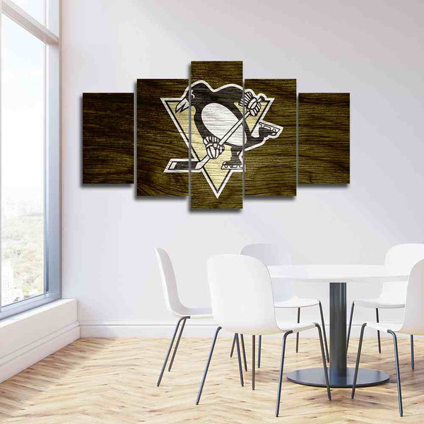 5 panel canvas pittsburgh penguins sports wall art prints on sale