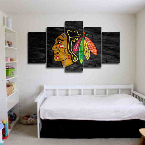 chicago blackhawks nhl sports canvas wall art panel design for home decor