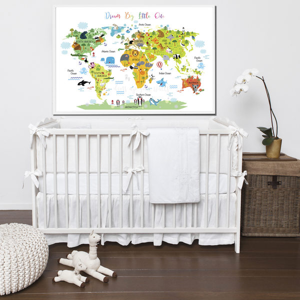 Animals World Map #2 (Dream Big Little One)