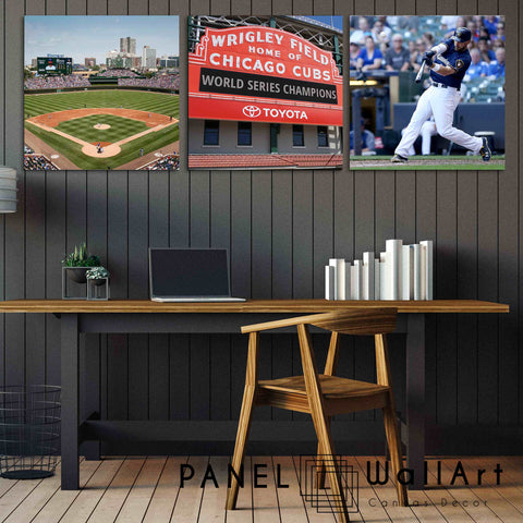 chicago cubs canvas wall art