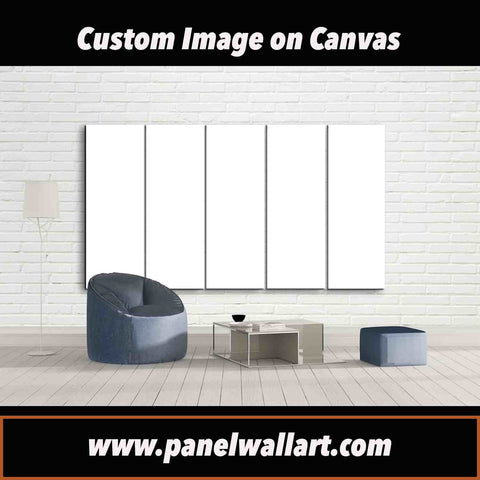 5 panel custom image on canvas wall art