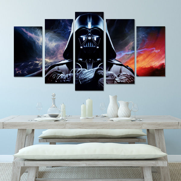 Darth Vader in Storms | Black Friday Cyber Monday Sale | Panel Wall Art Canvas