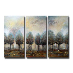 A Day During Winter abstract 3 pieces oil painting canvas wall art amazon
