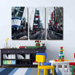 Big City Life abstract 3 pieces oil painting canvas wall art amazon