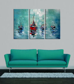 Nautica abstract 3 panels oil painting canvas wall art etsy