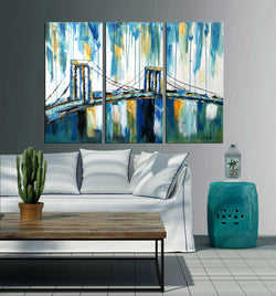 Abstract Brooklyn abstract 3 pieces oil painting canvas wall art amazon