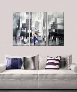 A Different Perspective abstract 3 pieces oil painting canvas wall art amazon