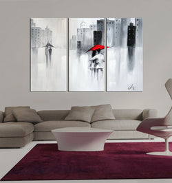 City Love abstract 3 pieces oil painting canvas wall art amazon