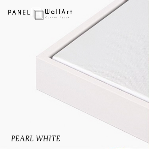 pearl white canvas floater frames - panelwallart.com | Panel Wall Art