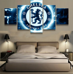 Chelsea Football Club Sports Team | 5 Panel Canvas Wall Art Prints by Panel Wall Art