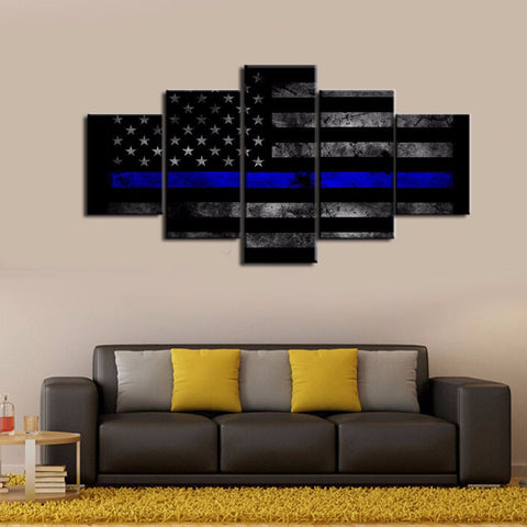 thin blue line canvas wall art bestsellers 5/5 reviews rating christmas sale
