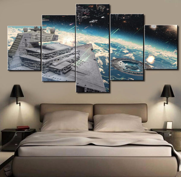 The Imperial Destroyer of Star Wars | Black Friday Cyber Monday Sale | Panel Wall Art Canvas