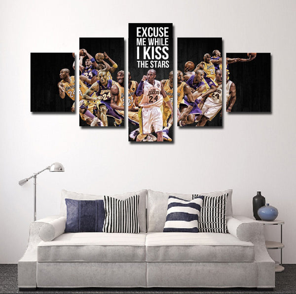 kobe bryan canvas wall art