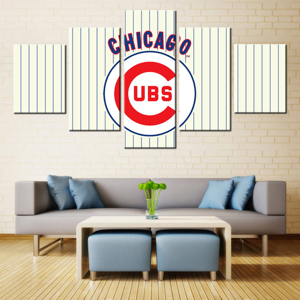 5 panel chicago cubs canvas wall art by panelwallart.com