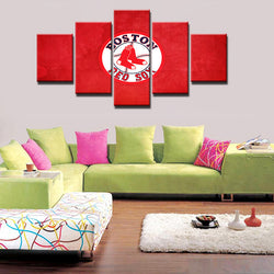 5 Panel  Boston Red Sox Sports Team canvas wall art by panelwallart.com