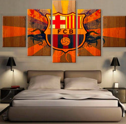 Barcelona FCB | 5 Panel Canvas Wall Art Prints by Panel Wall Art