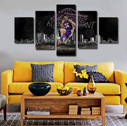 Kobe Bryant Star | 5 Panel Canvas Wall Art Prints by Panel Wall Art