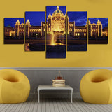 Castle Landscape | 5 Panel Canvas Wall Art Prints by Panel Wall Art
