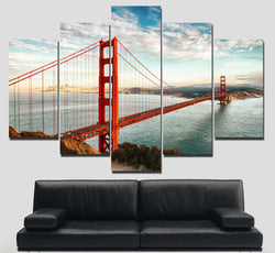 The Golden Gate Bridge | Black Friday Cyber Monday Sale | Panel Wall Art Canvas