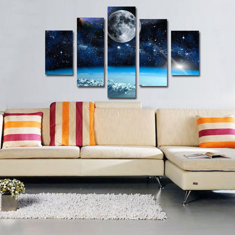 Space and Universe | 5 Panel Canvas Wall Art Prints by Panel Wall Art