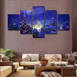 Christmas is Coming | 5 Panel Canvas Wall Art Prints by Panel Wall Art